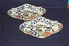 Pair of Davenport Shaped Ironstone Dessert Dishes