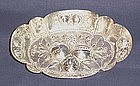 Silver Repousse Pin Tray Germany 1890