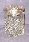Large Cut Glass and Sterling Vanity or Dresser Jar