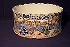 Satsuma Bowl Scalloped Rim and Base Meiji Period