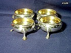 George II  Silver Open Salts; Set of 4; 1747
