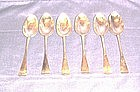 Rare Matched Set of Scottish Sterling Dessert Spoons