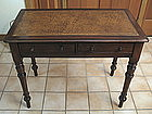 William IV Leather Top Walnut Writing Desk