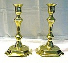 George II Brass Candlesticks