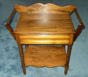 American Victorian Washstand with Towel Bars