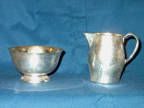 Paul Revere Style Sterling Creamer & Sugar