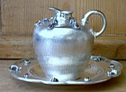 Italian Silver Ewer and Underplate