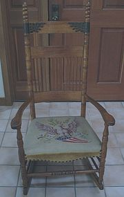 American Rocking Chair Needlepoint Flag Seat