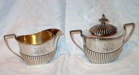 Gorham Sterling Silver Covered Sugar and Creamer