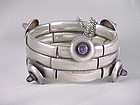 WILLIAM SPRATLING BRACELET AMETHYST & STERLING SILVER