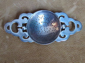 c. 1940 Vintage William Spratling Silver Tea Strainer