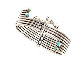 HECTOR AGUILAR Turquoise & Sterling Silver Bracelet