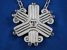 WILLIAM SPRATLING Sterling & Amethyst Necklace or Pin