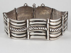 Rare HECTOR AGUILAR Sterling Silver Bracelet 1940's