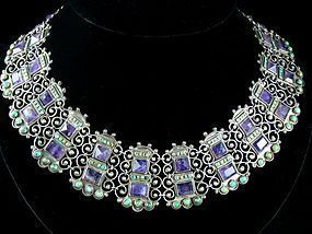 MATL MATILDE POULAT AMETHYST & TURQUOISE NECKLACE