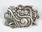 WILLIAM SPRATLING SILVER QUETZALCOATL PIN