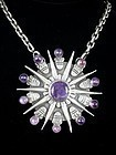 WILLIAM SPRATLING AMETHYST & SILVER NECKLACE