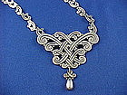 Vintage Los Castillo Sterling Silver Necklace & Pin