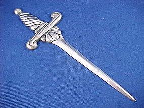 vintage hector aguilar sterling silver letter opener