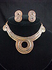 Vintage Victoria Copper Necklace & Earrings