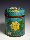 A Nice Cloisonn Enamel Covered Box of Qing Dynasty