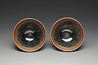 A Pair of Jianyang Tea Bowls of Southern Song Dynasty.,