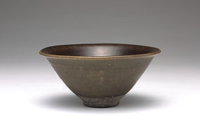 A Rare Green-Glazed Jianyang Tea Bowl of  Song Dynasty.