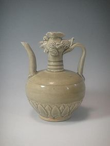 A Celadon Ewer Pot with Phoenix Head.