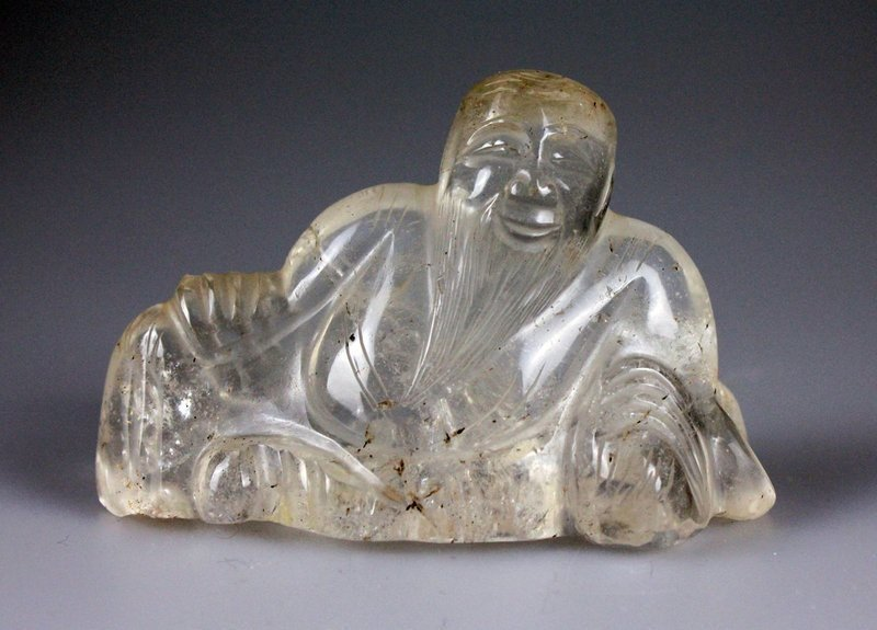 One Nice Rock Crystal Brush Rest of Ming Dynasty