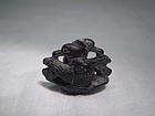 A Rare Black Steatite Pendant of Liao Dynasty