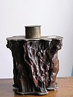 A 19th Century Wood and Pewter Tea Caddy