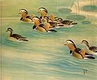 A Prestigious Painting of Mandarin Duck From Lin Yu-San