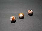 A Triplet of Agate Beads of Liao Dynasty(AD907-1125)