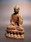 An Ancient Wood Buddha of Yuan Dynasty