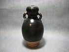 A Black-Glazed Gourd Vase of Northern Song Dynasty