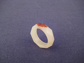 A Rare and Elegant Jade Ring of Qing Dynasty