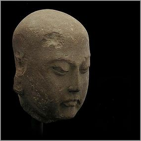 A Sandstone Lohan Head of Northern Song Dynasty (AD960-