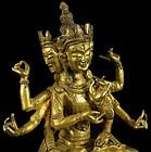 A Late 19th Century Gilt Bronze Ushinishavijaya