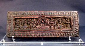 A Tibet Manuscript Cover of 13th/14th Century