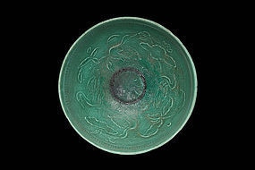 A Ding-Type Green-Glazed Cizhou Bowl of N. Song Dynasty