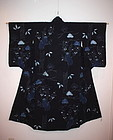 Edo rare & Excellent asamai-shibori kimono
