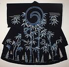 Edo Indigo-dyde cotton  Tutugaki  Bamboo & sparrow Yogi