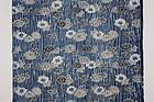 Edo Indigo Katazome Cotton Hand-spun Slightly thick Flower pattern