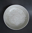 Song Dynasty Soucer Dish With Flower Motive