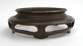 A Chinese Bronze Stand Censer (6)