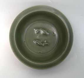 Longquan Celadon Twin Fish Small Dish