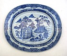 Chinese 18th Century Blue and White Export Plate