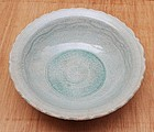 Fine Sawankhalok Large Bowl with Bluish Green Glaze