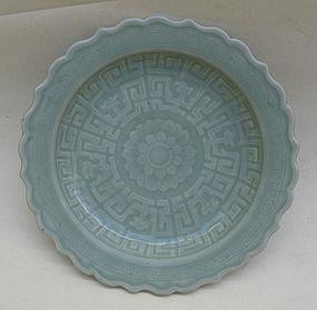 Qianlong Celadon Dish (29cm)