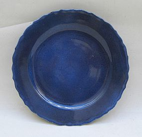 Powder Blue Glaze Dish, Kangxi Period